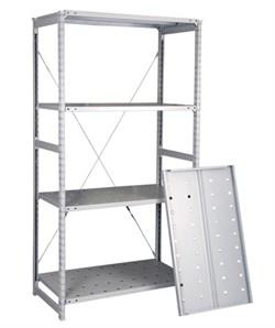 Перфорированный стеллаж металлический сборный 2500*760*800 (150 кг на полку) - фото 10377