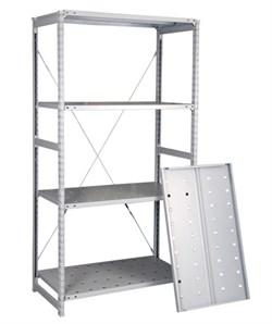 Перфорированный стеллаж металлический сборный 2000*760*800 (150 кг на полку) - фото 10381