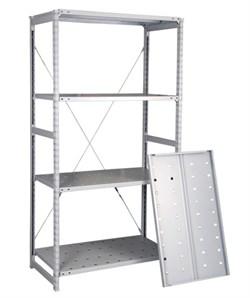 Перфорированный стеллаж металлический сборный 2000*760*600 (150 кг на полку) - фото 10383