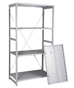 Перфорированный стеллаж металлический сборный 2500*760*600 - фото 10385