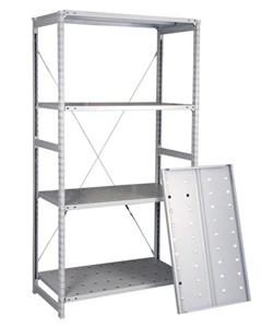 Перфорированный стеллаж металлический сборный 2500*760*500 - фото 10387