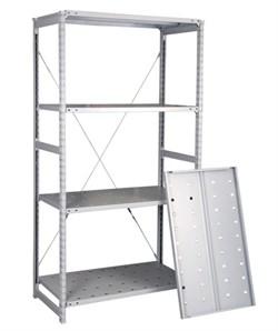 Перфорированный стеллаж металлический сборный 2500*760*300  - - фото 10399
