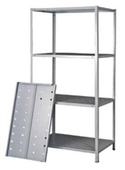 Стеллаж перфорированный Лайт металлический сборный 2000*1000*400 (120 кг.) - фото 11572