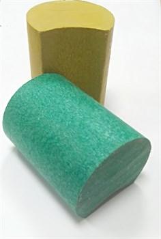 Пластиковый настил для лавок и скамеек в виде круга с пазом 80*2000 - фото 13692
