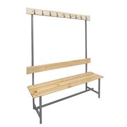 Скамейка для раздевалок с вешалкой односторонняя — CП-1В-1500 - фото 14081