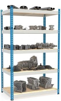 Стеллаж металлический сборный МКФ 2000*1830*760 (5 полок) - фото 14418