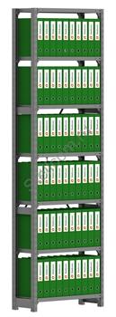 Архивный стеллаж металлический сборный  СУА 2500*760*300 - фото 5285