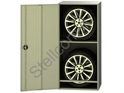 Металлический шкаф для шин №1 - фото 5572