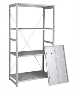 Перфорированный стеллаж металлический сборный 2500*1060*400 - фото 6102