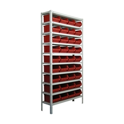 Стеллаж для метизов металлический сборный 2000*1000*300 - фото 6992