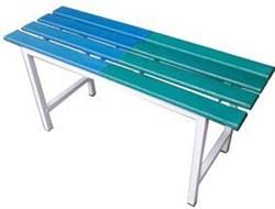 Скамья для раздевалки с наборным пластиковым настилом ПН1000-8