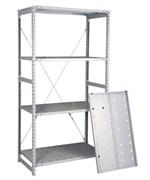 Перфорированный стеллаж металлический сборный 2500*760*400