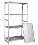Перфорированный стеллаж металлический сборный 2000*760*300