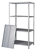 Стеллаж перфорированный Лайт металлический сборный 2000*1000*300 (120 кг.)