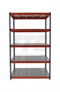 Стеллаж металлический серии Профи-Т КРЕПЫШ 2500*1240*500 с металлическим настилом