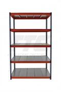 Стеллаж металлический серии Профи-Т КРЕПЫШ 2500*1540*500 с металлическим настилом