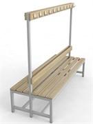Скамейка для раздевалок с вешалкой двухсторонняя — CП-2В-1200