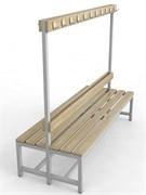 Скамейка для раздевалок с вешалкой двухсторонняя — CП-2В-1500