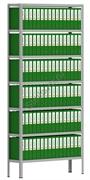 Архивный стеллаж СТА 2500*1200*300