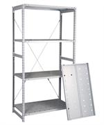 Перфорированный стеллаж металлический сборный 2500*1060*300